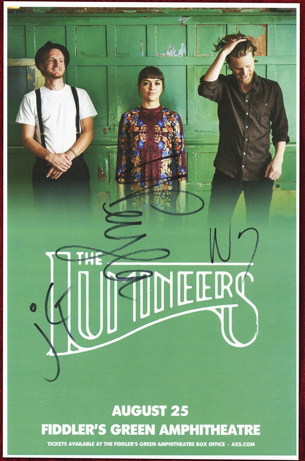 The Lumineers Autographed Concert Poster 2017 Wesley Schultz, Jeremiah Fraites - $26.00