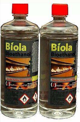 2 X BIO ETHANOL BIOLA SUPERIOR FUEL 2 X 1L