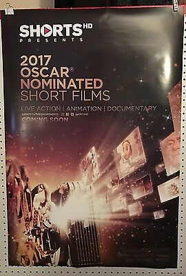 Original Movie Poster 2017 Oscar Nominated Short Films Double Sided 27X40