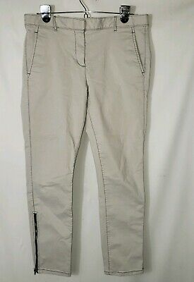 KHAKIS BY GAP SKINNY MINI SZ 6 Ankle Zipper Light Gray
