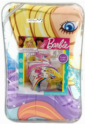 Barbie Microfiber Twin Comforter 64 in x 86 in