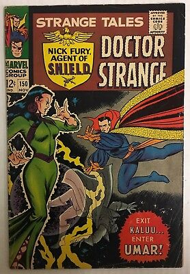 Strange Tales #150 (1966) VF Condition Dr Strange Nick Fury Agent Of Shield