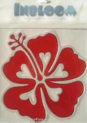 Inbloom Stickers (INBLOOM VINYL STICKER Red Hibiscus Flower DECAL CAR WINDOW HOME free ship)