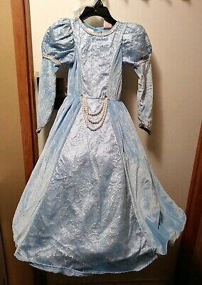Renaissance Costume For Girls (Medieval Princess Costume Renaissance Blue Dress Girls Childrens Gown Small)