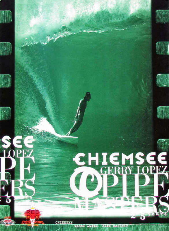 Mint 1995 Pipeline Masters Hawaii Gerry Lopez Surfing Contest Jeff Divine Poster