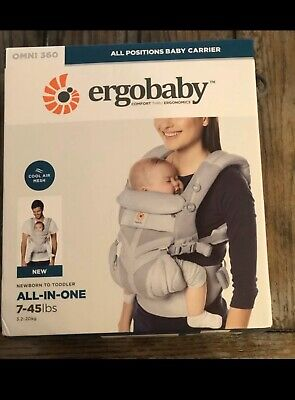 ERGOBABY OMNI 360 COOL AIR MESH ERGO BABY Carrier Pearl Grey