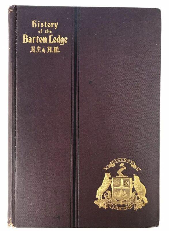 Freemasonry Antique Book History Of The Barton Lodge 1795-1895 A.F. & A. M. 1895