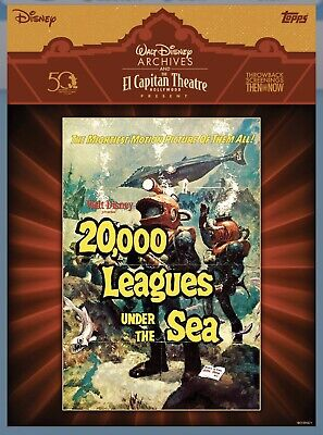 Disney Collect Topps El Capitan Theatre 20,000 Leagues Under the Sea