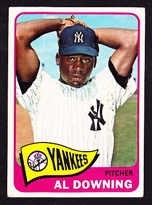 1965 TOPPS #598 AL DOWNING YANKEES SP