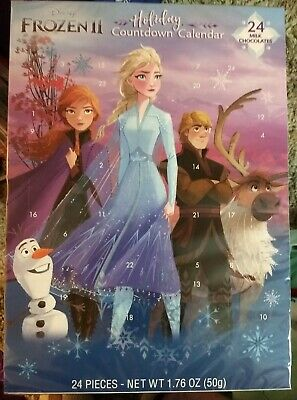 Disney Frozen II Holiday Countdown Calendar For Kids 24 chocolates exp July 2022