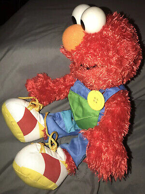 "Sesame Street Learn to Dress 15"" *ELMO* Soft Stuffed Plush Doll #075430 By Gund"