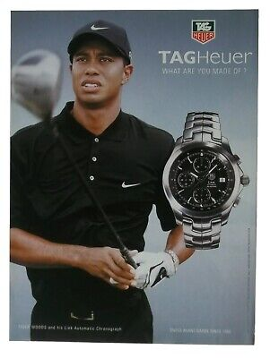 2008 TAG Heuer Link Automatic Watch Art Tiger Woods Golf Vintage Print Ad Poster