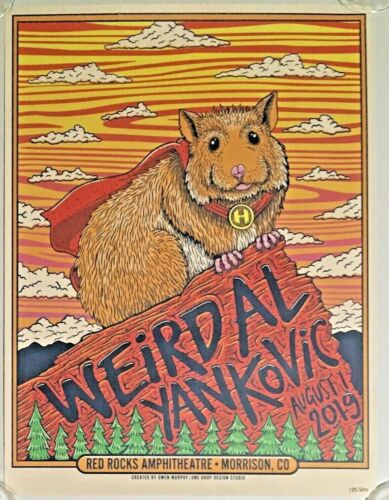 Weird Al Yankovic Strings Attached Red Rocks, CO Limited Edition Poster, EUC