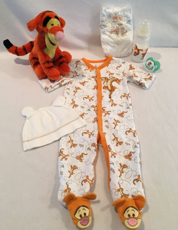 Reborn Baby Doll Tigger Sleeper W/pacifier,bottle&accs