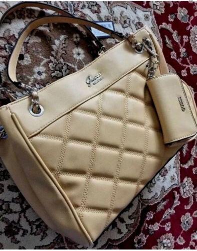 Guess Handbag Cheerleader LE656206 Women's Purse Tan Satchel