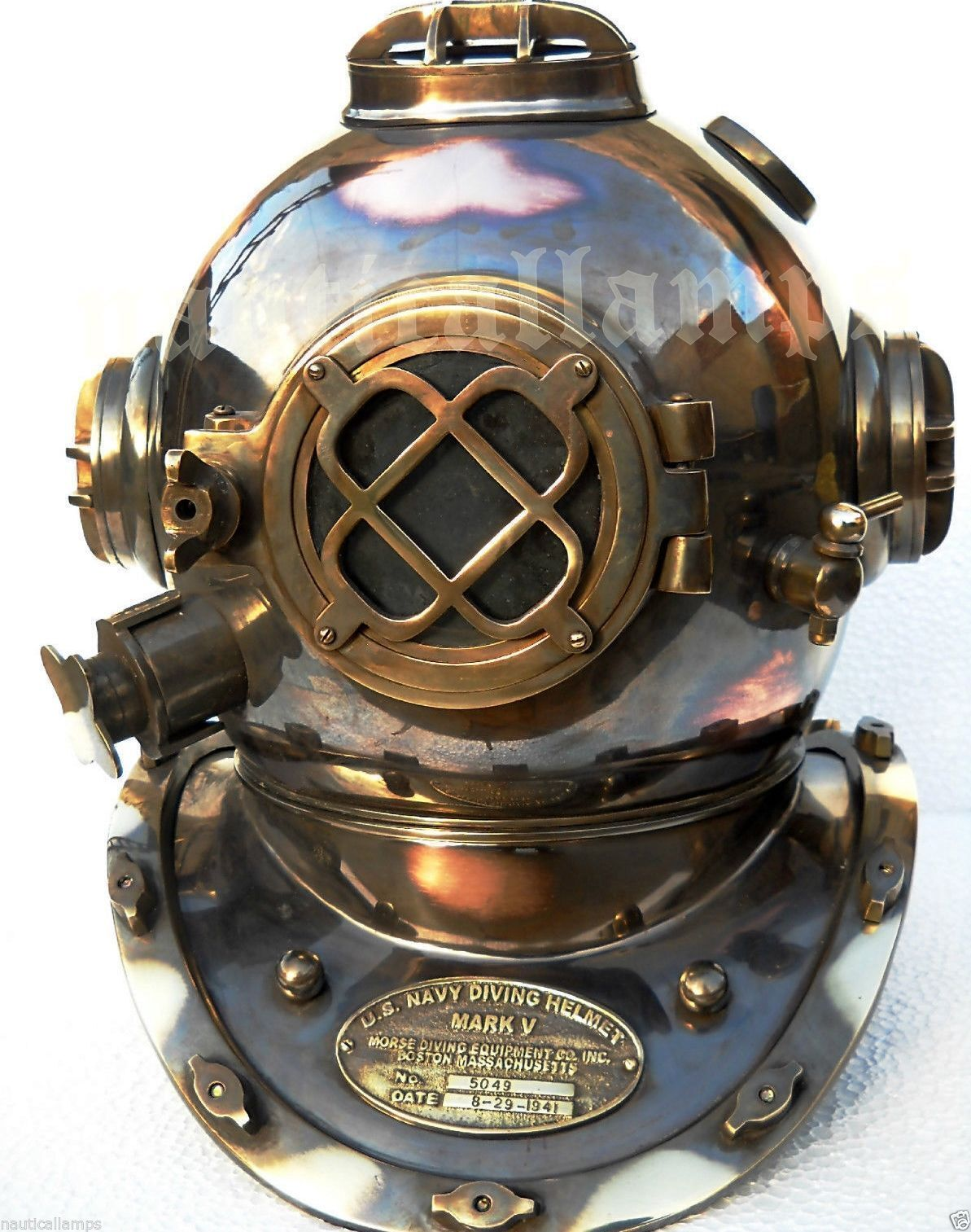 Vintage U.S navy divers diving helmet mark v full size deep sea scuba gift item
