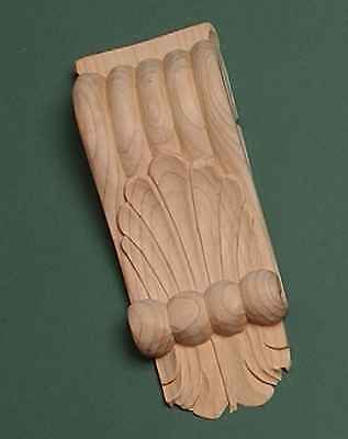 Decorative Hand Carved Pine Wooden Corbel (718) 1 x Pair