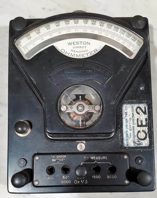 Weston Direct Reading Ohm Meter #1 Early 1900
