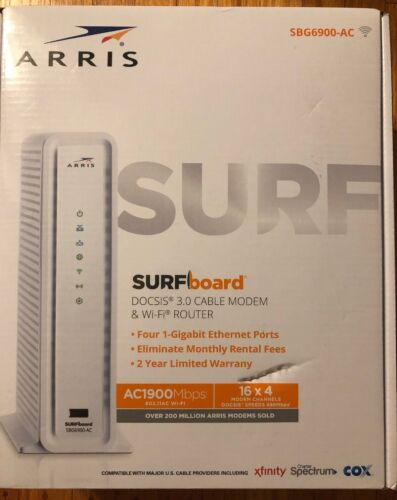 surfboard sbg6900ac docsis 3.0 cable modem/ wi-fi ac1900 rou