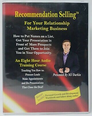 The Recommendation Selling Course by MJ Durkin Audiobook on 8 CDS & Workbook =)