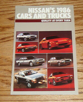 Original 1986 Nissan Car & Truck Full Line Sales Brochure 86 Pulsar NX 200 SX