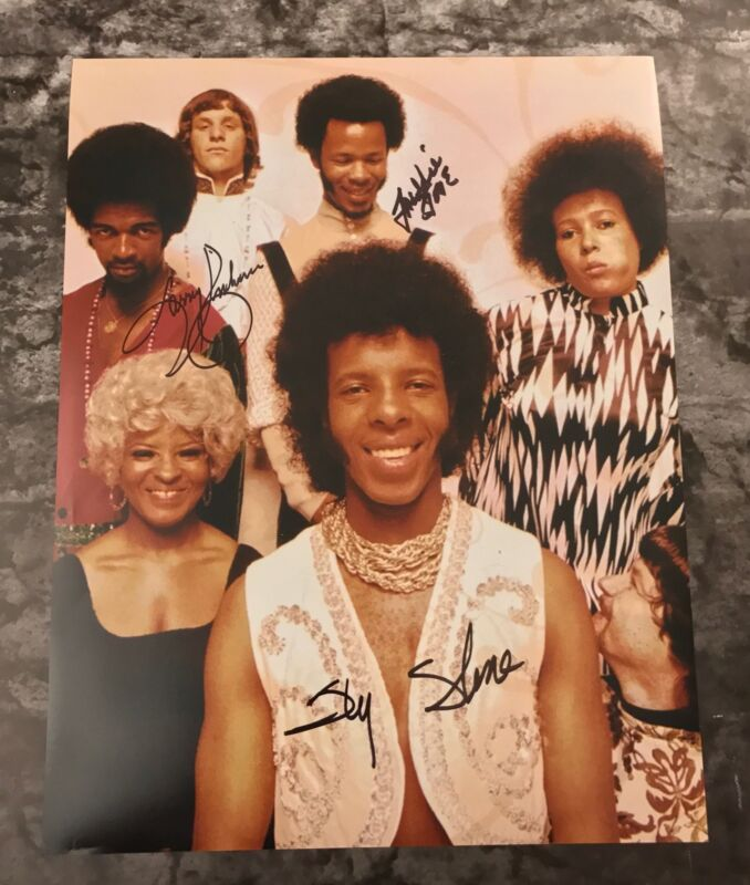 GFA Larry Freddie & Sly * SLY AND THE FAMILY STONE * Signed 11x14 Photo S3 COA