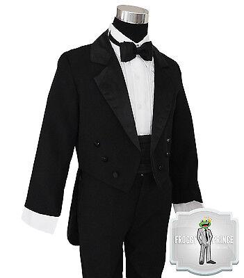 Boys Tuxedo Black with Tail Toddler to Teens 2 3 4 5 6 7 8 10 12 14 16 18 20