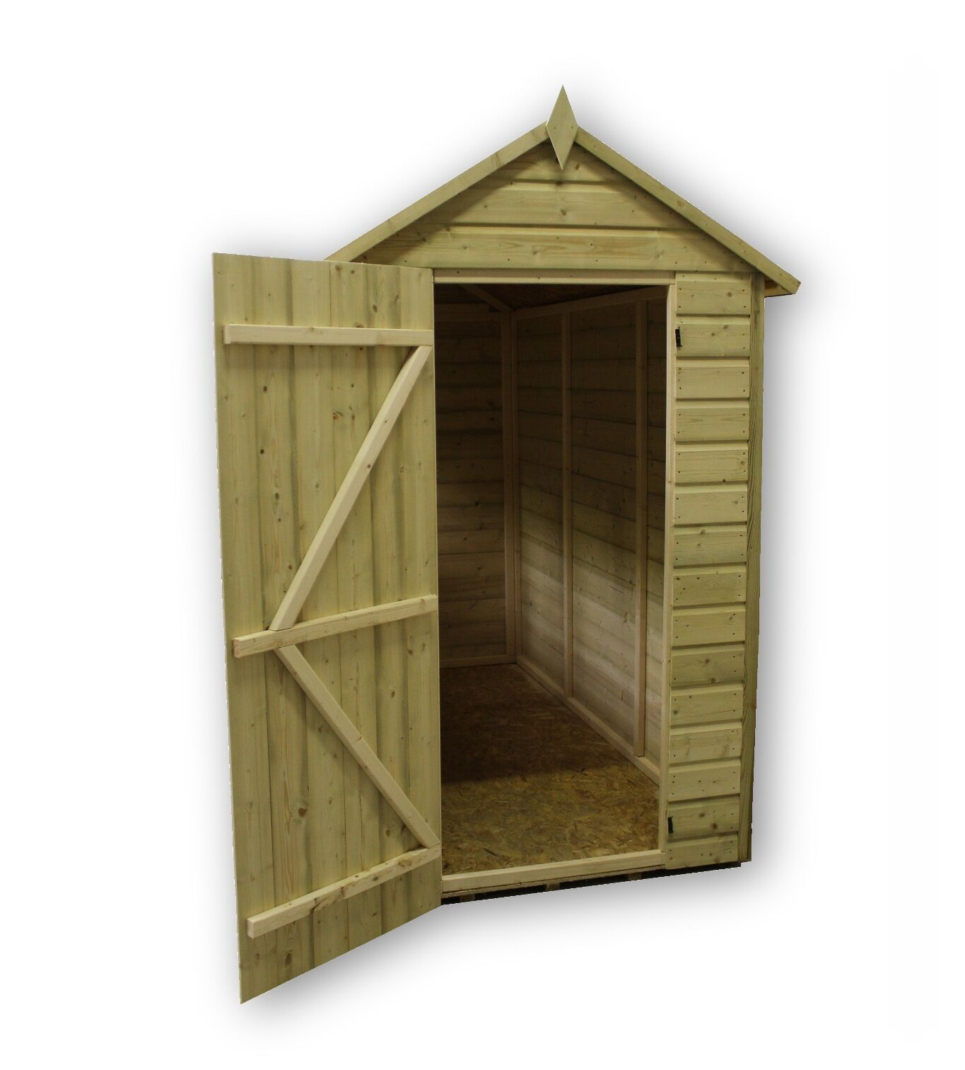 garden shed 5x9 shiplap apex roof tanalised pressure treated with window