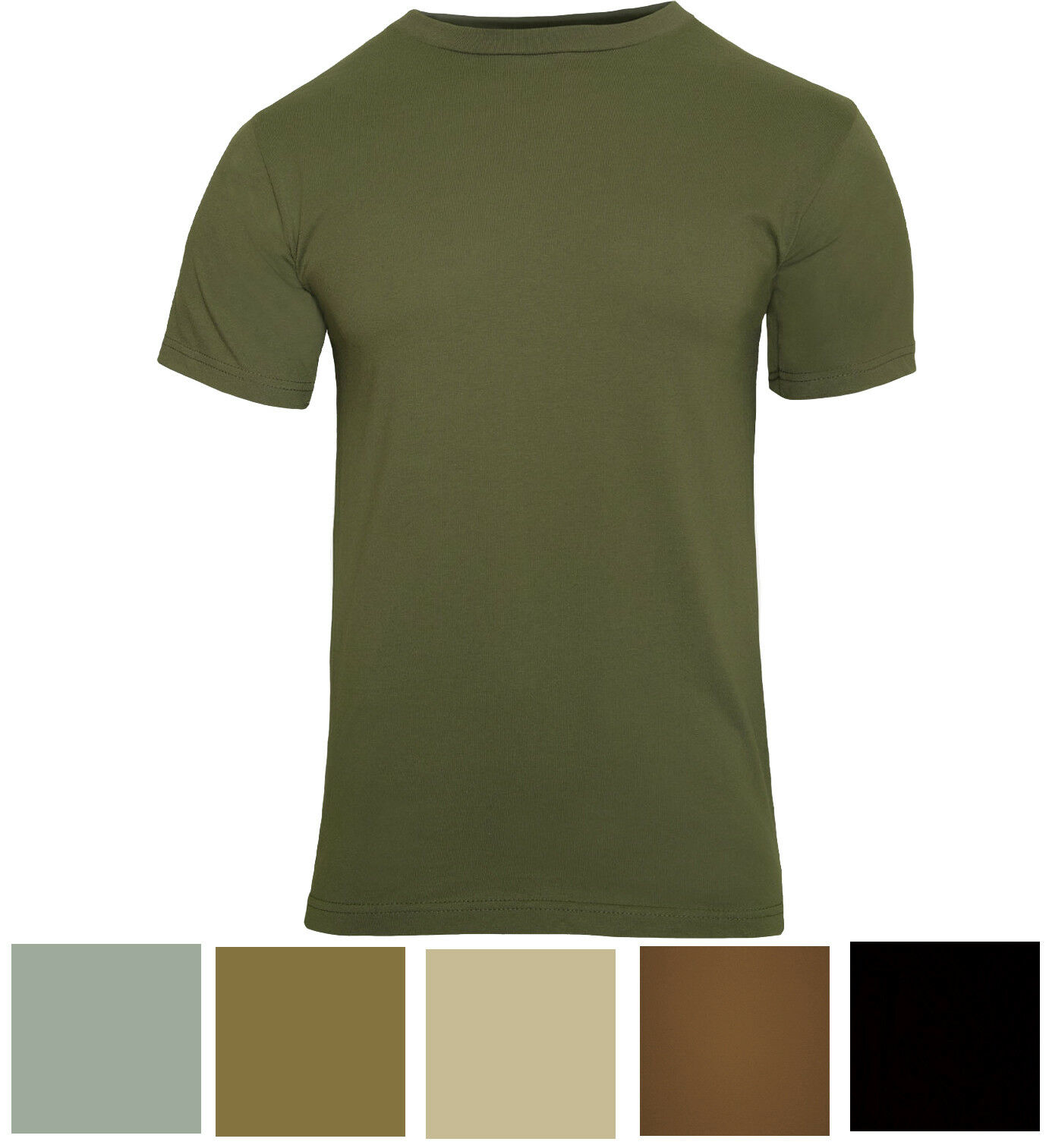Solid Color Tactical T-Shirt Plain Army Military Outdoors Camp Short Sleeve Tee Clothing, Shoes & Accessories