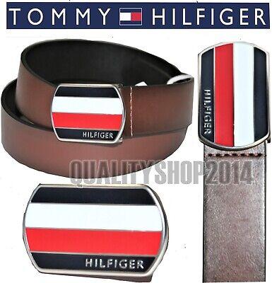 Tommy Hilfiger Men's  Belt with Plaque Logo Buckle MSRP: (Logo Plaque Buckle Belt)