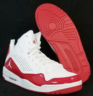 super popular 6390a fffc4 New NIKE Mens 11 AIR JORDAN SC-3 629877 116 WHITE RED BASKETBALL SHOES MSRP   120