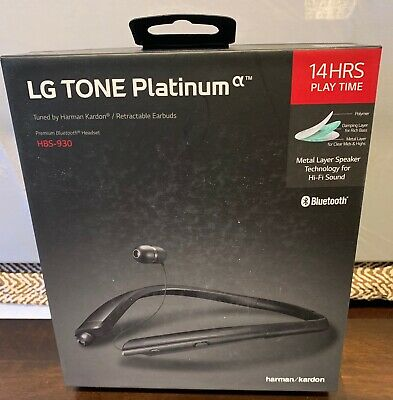 LG HBS-930 TONE Platinum Alpha Wireless Headset Harman Kardon - Black