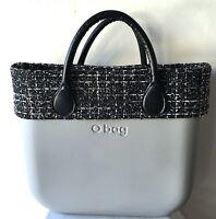 Borsa O Bag Grande Grigia+manici Corti Neri+bordo Tweed+sacca Nera Bordeaux-  - ebay.it