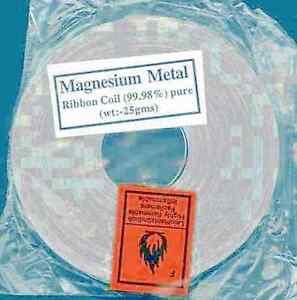 3000 mm Magnesiumband 99,9% - für Laborzwecke - das Original - aus Kanada  #LG1
