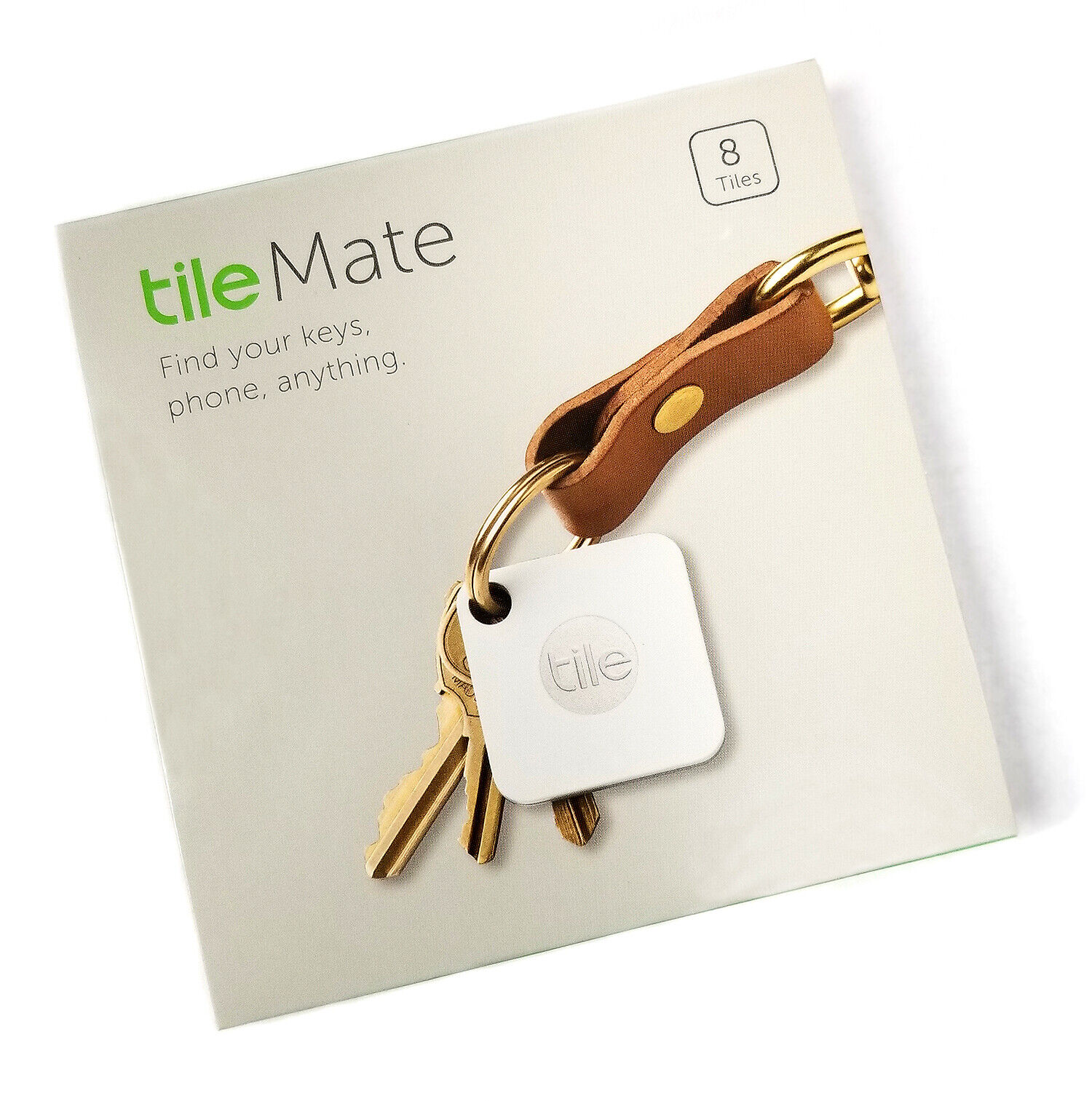 Retail 8-Pack Tile Mate Bluetooth Trackers Key Phone Anything Finder White