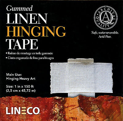 "Lineco GUMMED Linen Hinging Tape 1.00"" X150'  Very Strong! # L533-1050 (bin2128)"