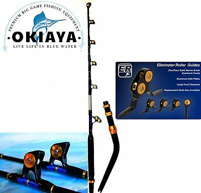 "OKIAYA VENOM PRO BENT BUTT FISHING ROD 80-130LB ""THE MONSTER"" with PACBAY GUIDES"