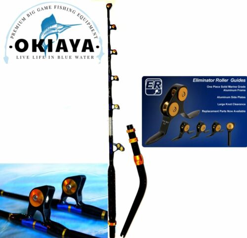 """OKIAYA VENOM PRO BENT BUTT FISHING ROD 80-130LB """"THE MONSTER"""" with PACBAY GUIDES"""