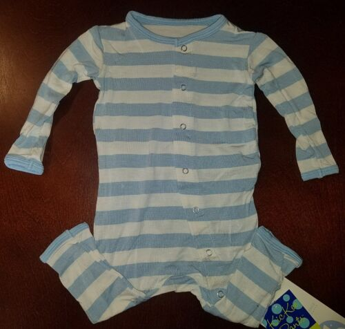 Kickee Pants Pond Stripe Infant Boy Coverall 3-6 Months New