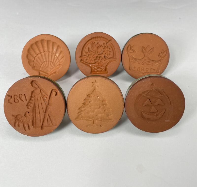 Rycraft Cookie Stamps Set of 6 Vintage 1980's Jack-O-Lantern Crown Shepherd ++