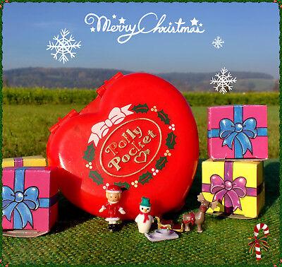 🌟POLLY POCKET Mini☆★♫ Jingle Bells Christmas Herzdose 100% komplett Weihnachten