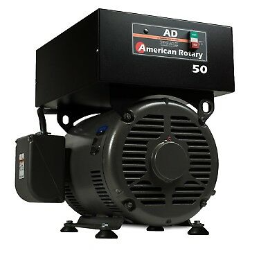 Rotary Phase Converter Ad50f Floor Unit 50hp Digital Controls Heavy Duty Cnc