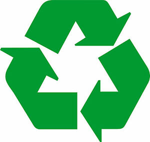 2x RECYCLE RECYCLING LOGO SELF ADHESIVE VINYL STICKERS  FREE POSTAGE