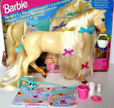 MATTEL BARBIE VINTAGE NIBBLES HORSE 14879 +BOX,VERY BEAUTIFUL+MORE RARE HORSES
