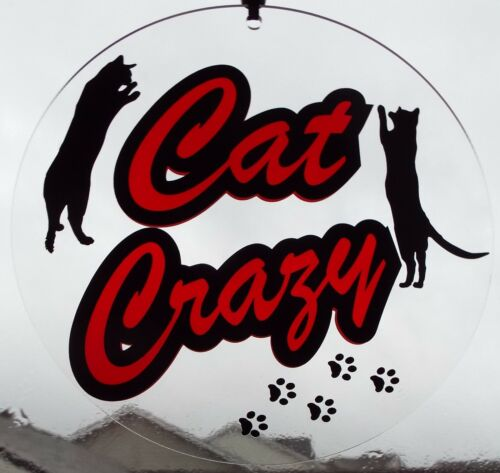Cat Crazy Collectible Party Accessory Window Decoration