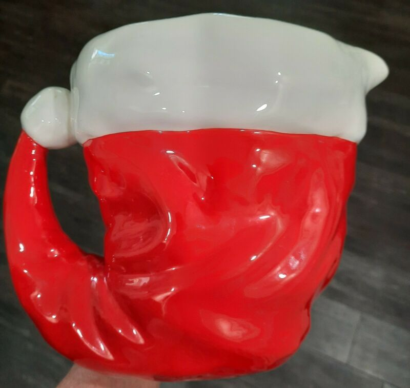 Department 56 Christmas Holiday Festive Santa Hat Pitcher A Time to Celebrate