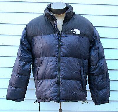 The North Face Men's Nuptse Navy Blue Hooded Down Puffer Coat Jacket XL X-Large Hooded Nuptse Jacket