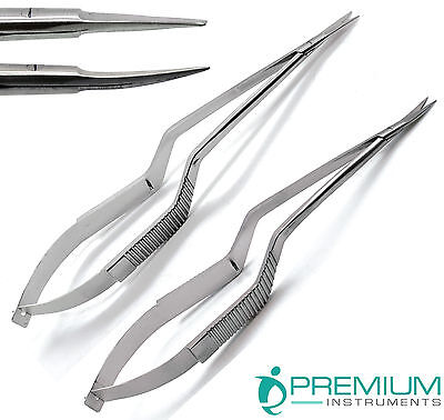 Micro Scissors 7.5 Yasargil Sharpsharp Straight Curved Surgical Set Of 2