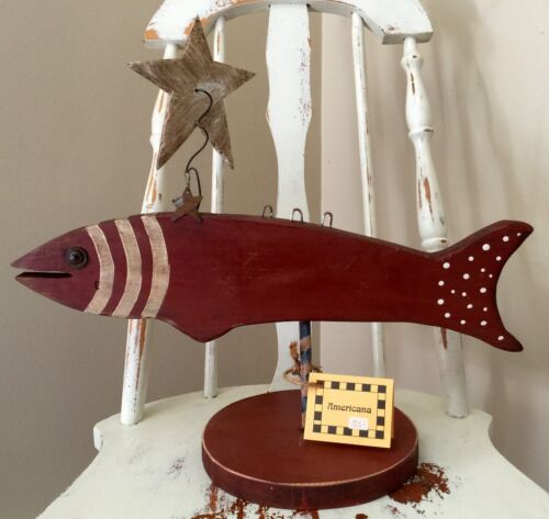 Unique+Hand+Made+Wooden+Fish+Very+Flexible++A+Must+See%21+Folk+Art+12+1%2F4+%22+long