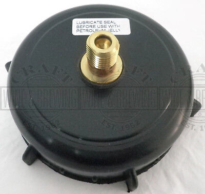 """Used, Spare 4"""" Homebrew King Keg Beer Barrel Cap + S30 CO2 Injection Valve + Washer for sale  Westcliff-on-Sea"""